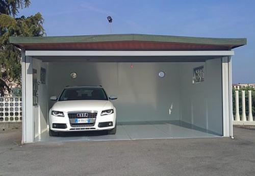 Box auto in cemento prezzi un pavimento per garage for Capannone prefabbricato agricolo prezzi