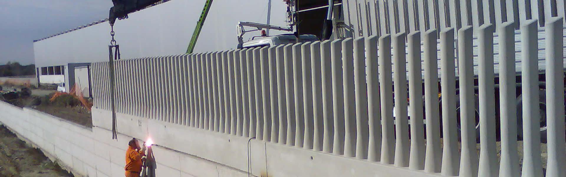montaggio e posa recinzioni in cemento